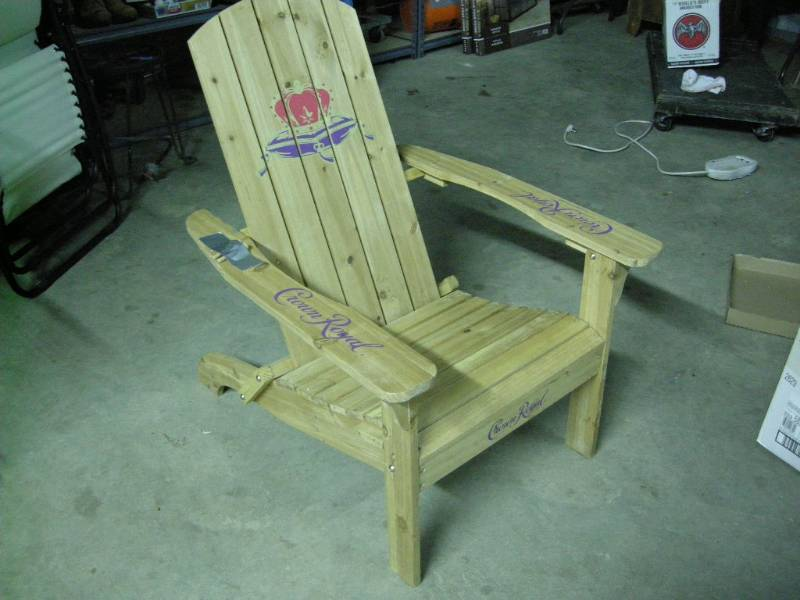 Crown Royal Folding Adirondack Chair | Ice Fishing, Ammo, Outdoors, Tools,  Die Cast, CDs, Military | K BID