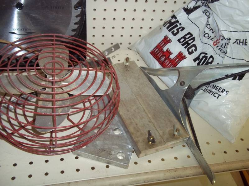 Saw Blade Fan : Saw blade fan large spring clamp assorted