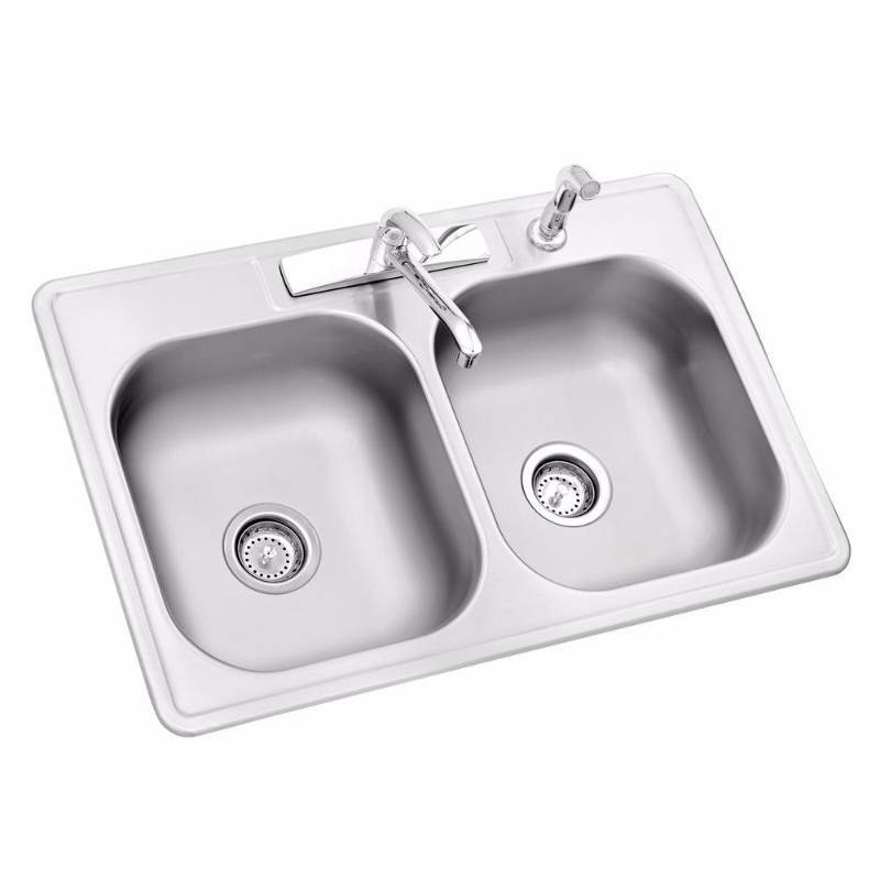 Jan S Kitchen Sink: Glacier Bay All-in-One Top Mount Stainless Steel 33 In. 4
