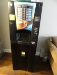 Necta Brio 3 coffee vending machine. Coffee and cappacino, Some new bags of mixture included. Dollar bill changer