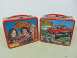 Pair of Vintage DUKES OF HAZZARD Metal Lunch Boxes