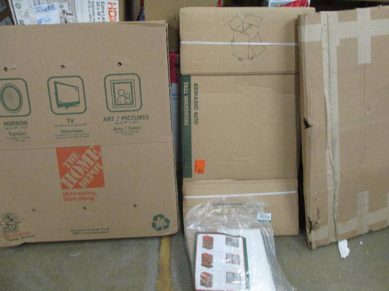 Flooring tools shelving household pack all resale for Used boxes for moving house