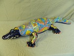 Mexican Hand Painted Alligator