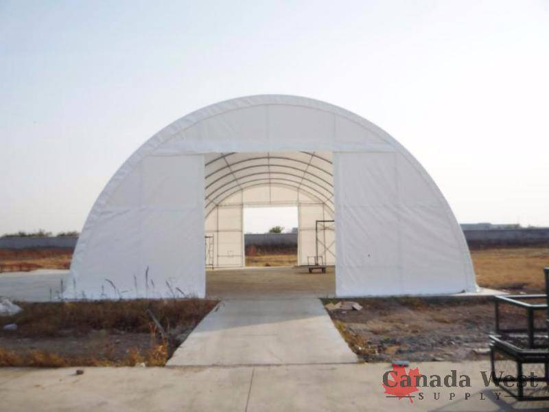 New 40x80x20 White Dome Steel Framed Storage Building