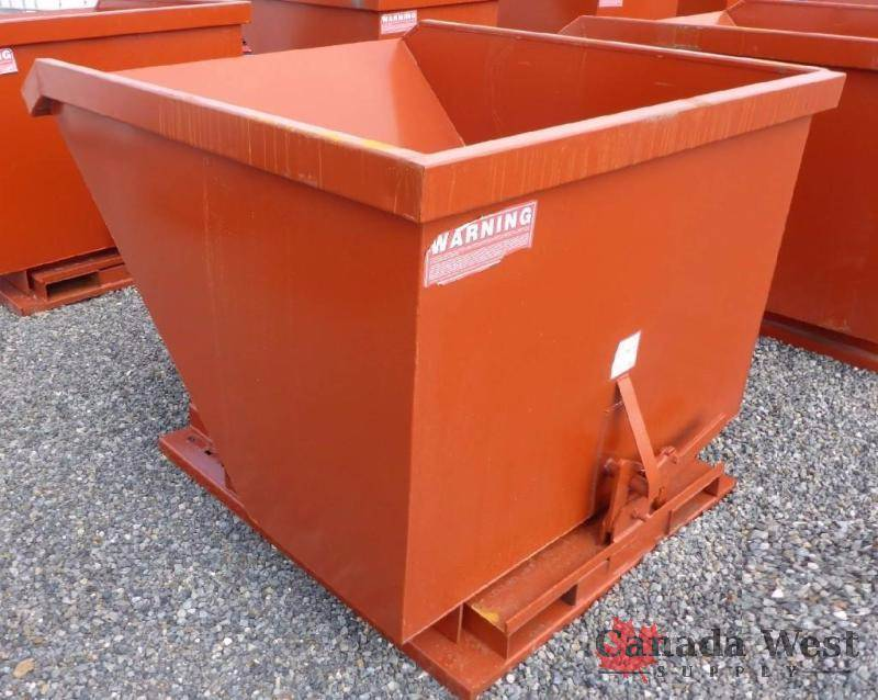 New 2 C Y Dumping Hopper Bin Scrap 2cy New Mud Terrain