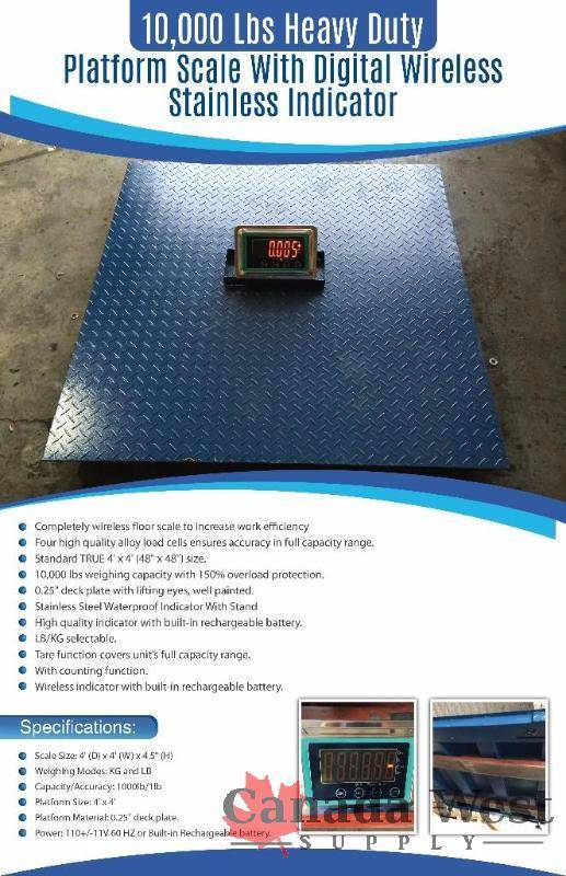 New 10 000 lbs indoor outdoor wireless floor scale 4 x 4 for 10000 lb floor scale
