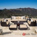 NEW MOONLIGHT 7 PCS OUTDOOR FURNITURE SET BEIGE SPT7PCSFS