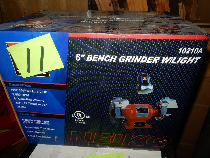 Wondrous Neiko 6 In Bench Grinder With Light New In Box Blaine Ocoug Best Dining Table And Chair Ideas Images Ocougorg
