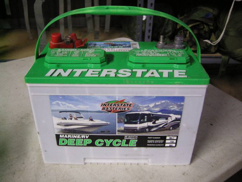 Interstate Deep Cycle Marine Battery >> Interstate Marine Rv Deep Cycle Battery Military Issue Tools