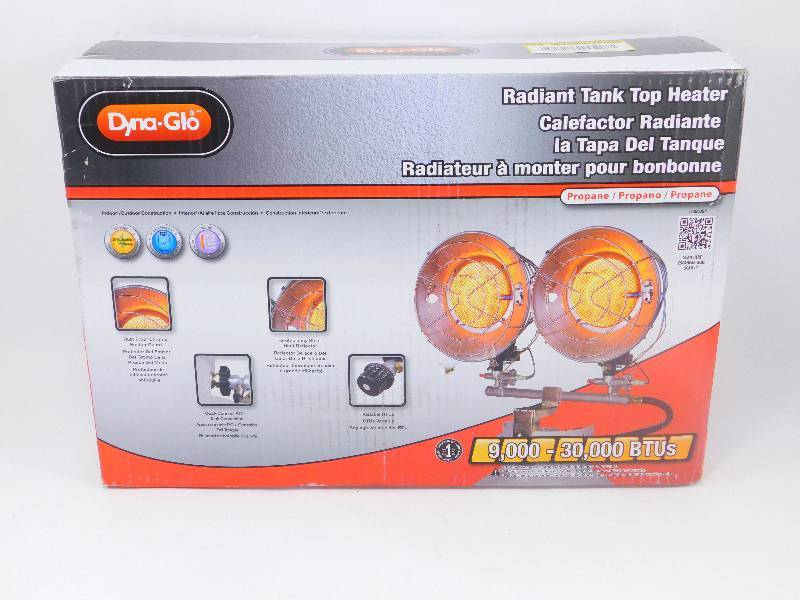 Dyna Glo S Radiant Propane Tank Top Dual Heater New