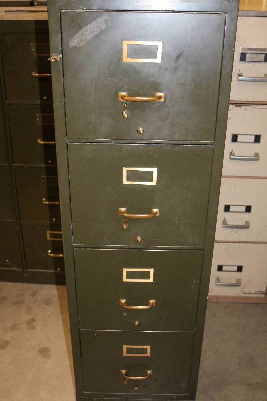 Vintage Shaw Walker Fire Resistant File Cabinet Office