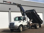 2002 International 4400 Contractors Dump Truck With Crane