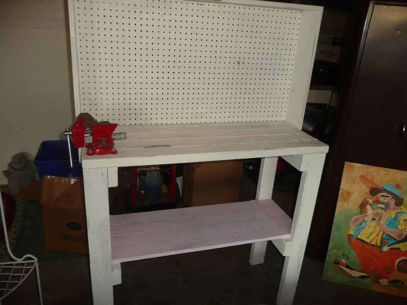 Man Cave Dealer : Potting work bench good condition man cave dealer