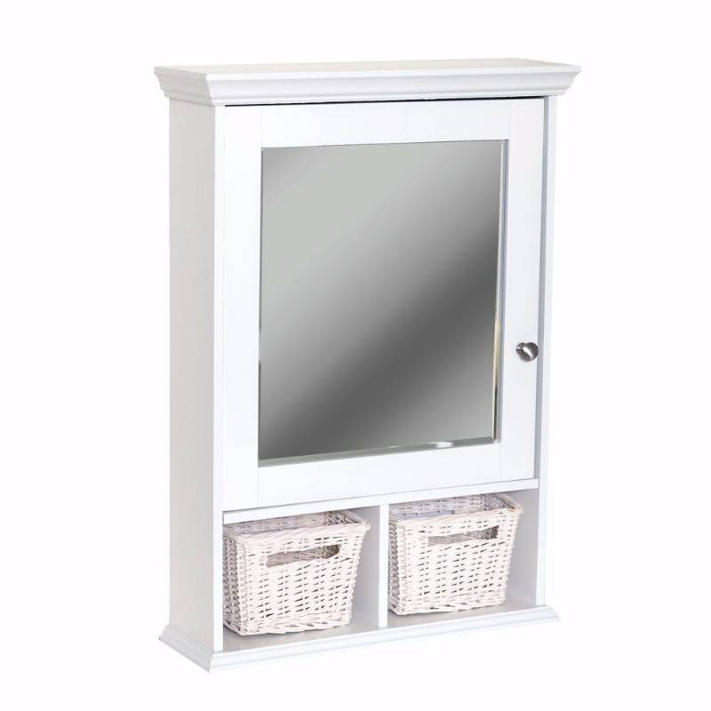 Zenith Decorative Medicine Cabinet With Wicker Baskets