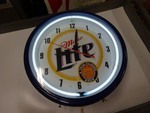 Miller Neon Light Clock works
