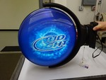 Bud Light That spins around works