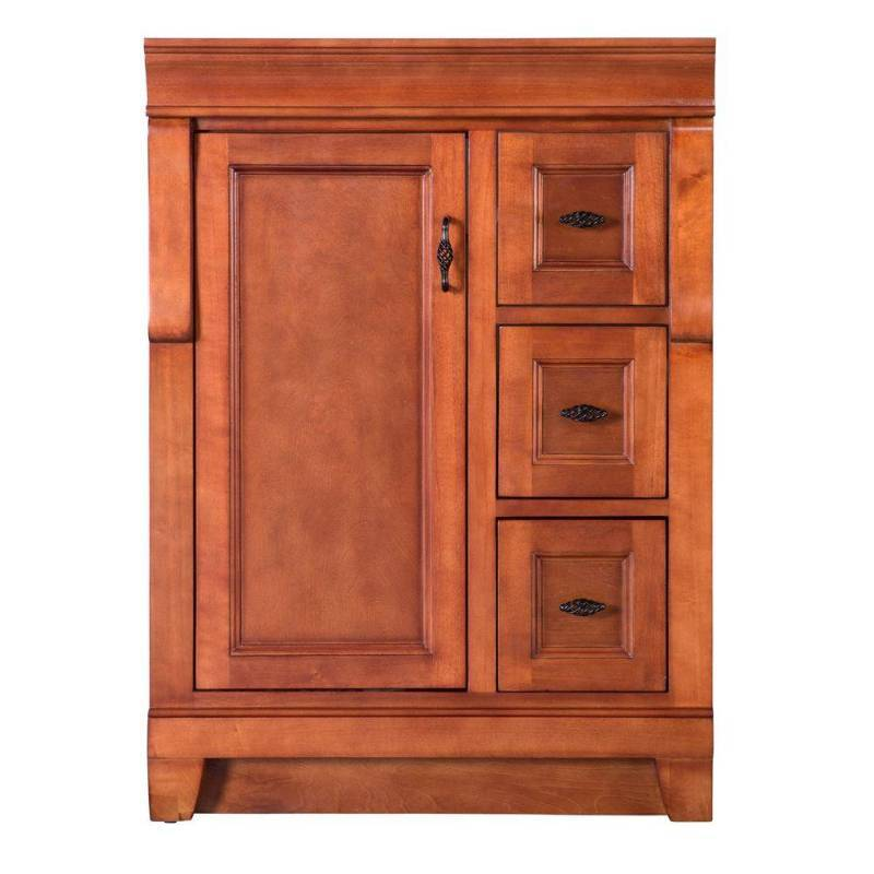 Foremost naples 24 in w x 21 7 8 in d x 34 in h vanity cabinet only in warm cinnamon model Model home furniture auction mn