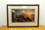 "Framed Pencil Signed ""Prepared For the Season"" Terry Redlin Print"