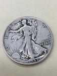 1943 Walkng Liberty Half Dollar ...