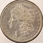 1892CC CARSON CITY MORGAN SILVER DOLLAR AU58 -ALMOST UNC