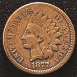 1877 INDIAN HEAD CENT FINE - NICE KEY DATE COIN