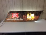 LARGE 5 FT + MILLER HIGH LIFE BEER LIGHTED SIGN