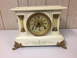 SETH THOMAS ADAMANTINE MANTEL CLOCK WITH KEY