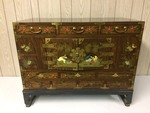 ASIAN STYLED DECORATIVE CHEST ON STAND