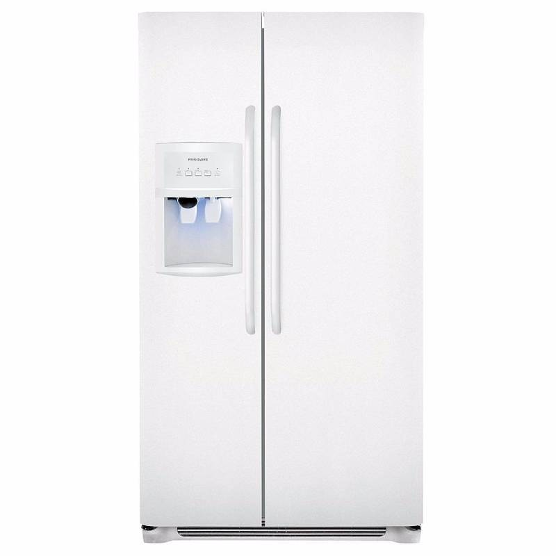 brand new frigidaire ffhs2322m side by side refrigerator 33 22 6 cu ft white color. Black Bedroom Furniture Sets. Home Design Ideas