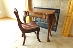 HIGH END E.J. Victor Wood Folding Table and Tell City Chair