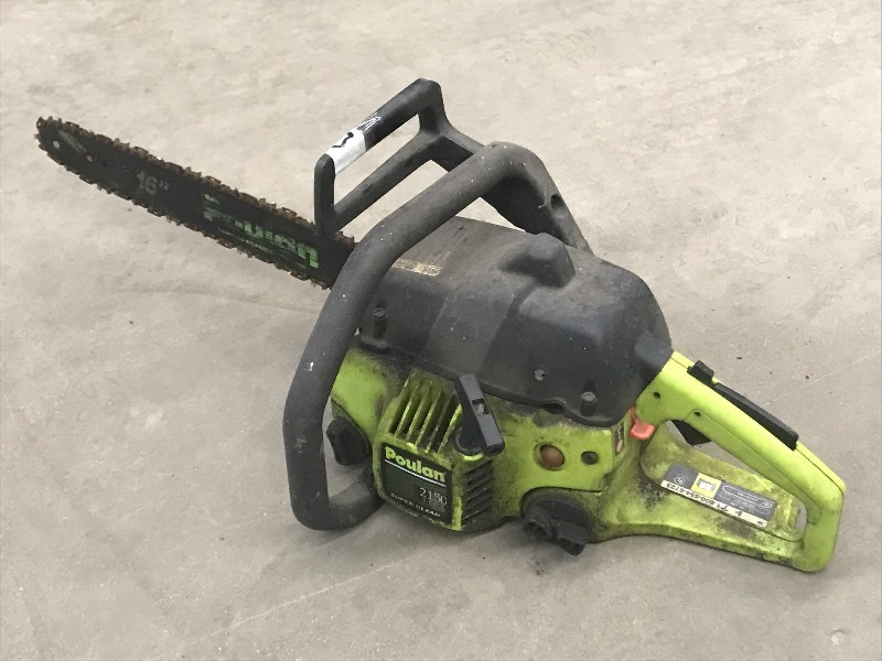 poulan 14 electric chainsaw manual