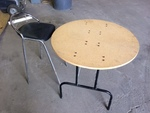 Wood Table and Metal Chair