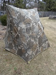 Double bull hunting blind. Easy to fold up. Comes with carrying bag