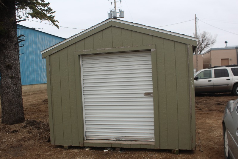 10 39 x 10 39 garden shed with roll up door take3 trailer for Garden shed with roller door