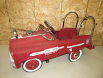 Vintage Fire Engine Station No. 9 Pedal Car