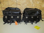 Unused WILLIE & MAX Leather Motorcycle Saddlebags