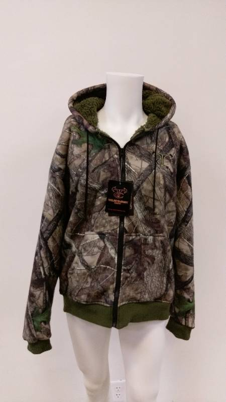 True Timber Camo Zip Up Fleece Hoodie