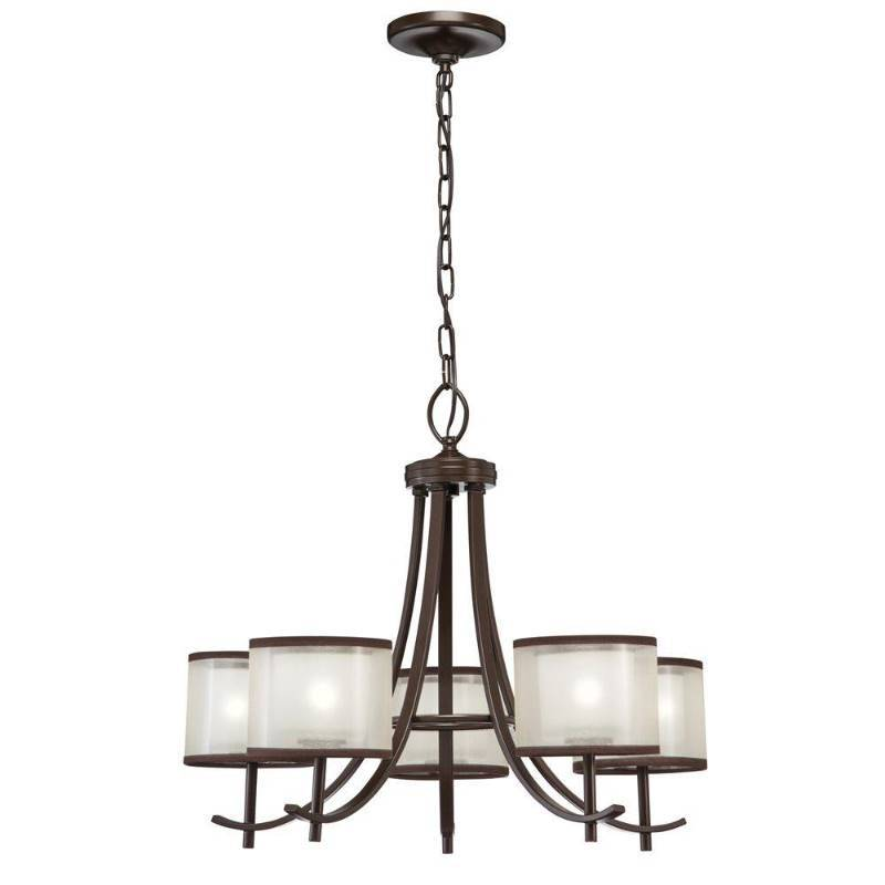 Hampton Bay 5 Light Bronze Ceiling Chandelier With Organza Shade New Kx Real Deals Tools Housewares Patio Furniture More St Paul K Bid