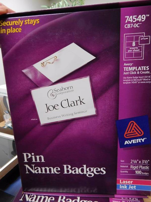 Avery Name Badge Template 74549 Gallery Template Design Ideas