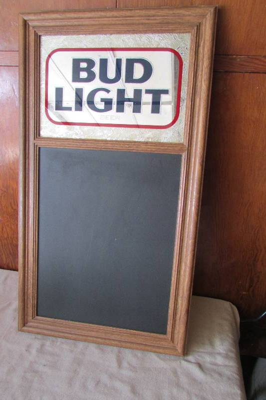 Vintage Bud Light Mirrorchalkboard Great Auction Of Vintage