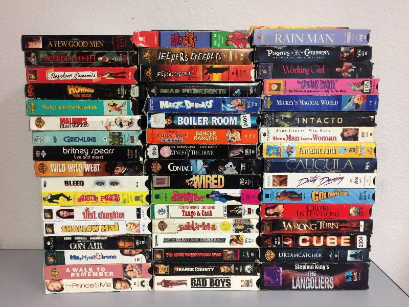 100 Assorted VHS Tapes