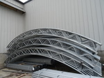 5 Galvanized arches for fabric hoop...