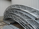 4 galvanized arches for fabric hoop...