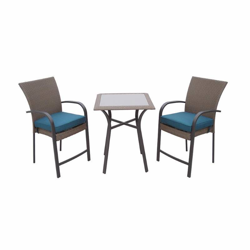 Hampton Bay Corranade 3 Piece Wicker Balcony Height Outdoor Bistro Set With Charleston Cushions General Merchandise Home Improvements K Bid