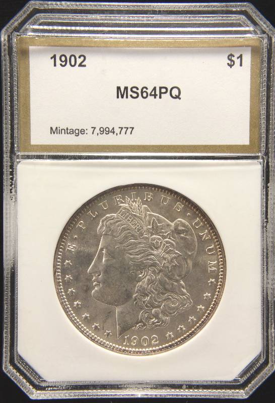 1902 MORGAN SILVER DOLLAR MS64PQ PCI