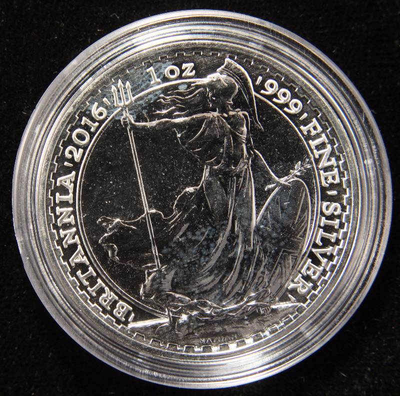 2016 BRITTANIA 1 TROY OZ. .999 FINE SILVER IN AIRTITE HOLDER