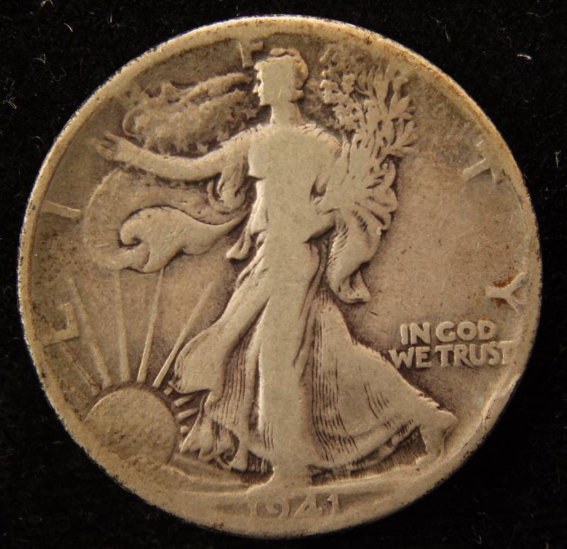 1941 WALKING LIBERTY SILVER HALF DOLLAR VG