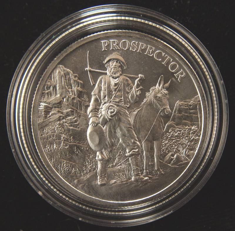 1 TROY OZ. .999 FINE SILVER BAR PROSPECTOR IN AIRTITE HOLDER