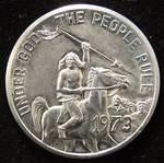 SOUTH DAKOTA SOUVENIR DOLLAR 'UNDER GOD THE PEOPLE RULE'