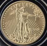 2009 AMERICAN $5 GOLD EAGLE 1/10th TROY OZ. .999 FINE GOLD IN AIRTITE HOLDER